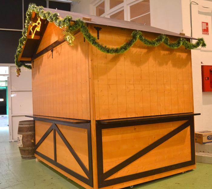Caseta de madera para alquiler